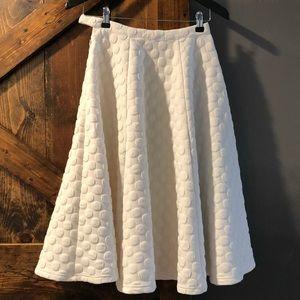 Gorgeous full a-line white skirt